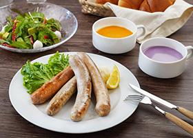 お家で楽しむ食欲の秋 4種のフランクと秋のスープ