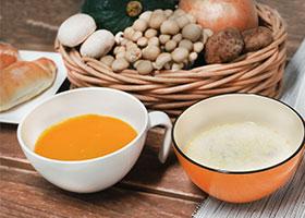 お家で楽しむ秋の味覚 2種のスープ