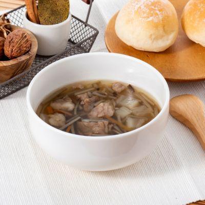 牛スジと牛蒡の和スープ